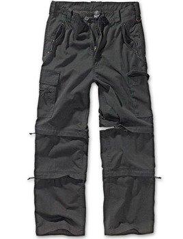 spodnie bojówki SAVANNAH RTROUSER BLACK, odpinane