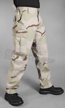 spodnie bojówki US BDU FELDHOSE R/S 3-COL.DESERT