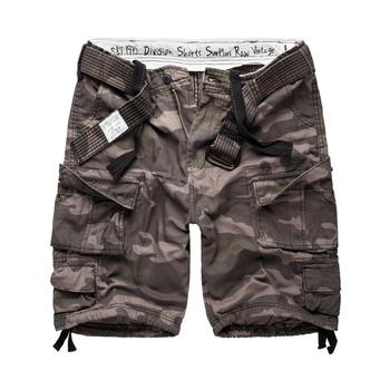 spodnie bojówki krótkie DIVISION SHORTS BLACK CAMO