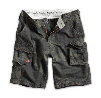 spodnie bojówki krótkie TROOPER SHORTS black camo