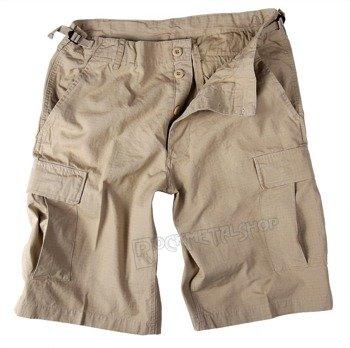 spodnie bojówki krótkie US BERMUDA RIP-STOP COTTON PREWASH KHAKI