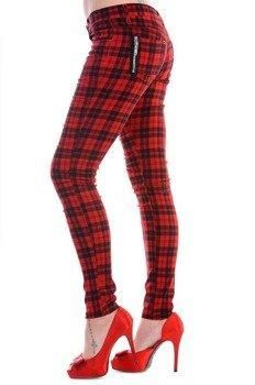 spodnie damskie BANNED - RED CHECK