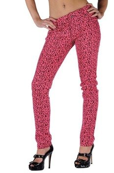 spodnie damskie LIVING DEAD SOULS pink (TR367)