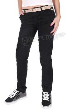 spodnie damskie XYLONTUM CHINO TROUSERS WN BLACK