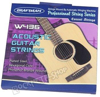 struny do gitary akustycznej CRAFTMAN HEXAGONAL / PHOSPHOR BRONZE W436-SL /011-052/