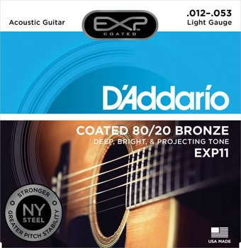 struny do gitary akustycznej D'ADDARIO BRONZE 80/20 LIGHT EXP11 /012-053/