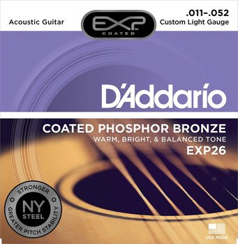 struny do gitary akustycznej D'ADDARIO EXP26 PHOS BRZ Custom Light /011-052/