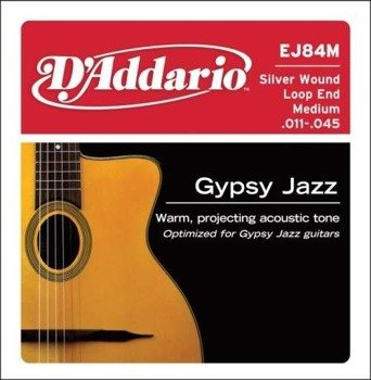 struny do gitary akustycznej D'ADDARIO - GYPSY JAZZ MEDIUM (EJ84M) /011-045/