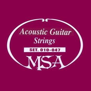struny do gitary akustycznej MSA /010 - 047/ (SK 30)
