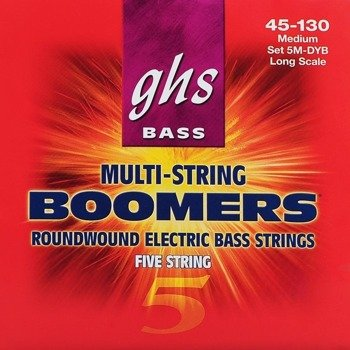 struny do gitary basowej 5str. GHS BASS BOOMERS / 5M-DYB MEDIUM /045-130/