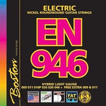 struny do gitary elektrycznej BOSTON EN-946 NICKEL ROUNDWOUND /009-046/