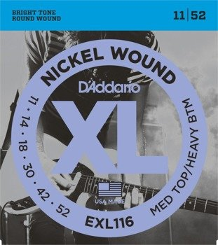 struny do gitary elektrycznej D'ADDARIO EXL116 /011-52/
