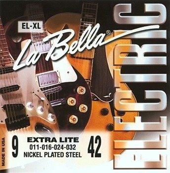 struny do gitary elektrycznej LA BELLA EL-XL Extra Light NICKEL PLATED /009-042/