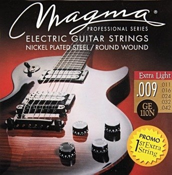 struny do gitary elektrycznej MAGMA GE110N Nickel Plated / Extra Light /009-042/