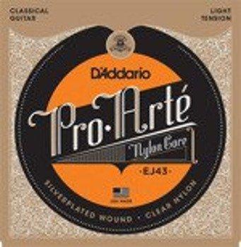 struny do gitary klasycznej D'ADDARIO - PRO ARTE EJ43 naciąg miękki