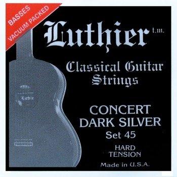 struny do gitary klasycznej LUTHIER 45 Concert Dark Silver - Hard Tension