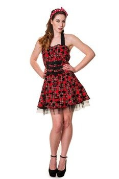 sukienka BANNED - RED TARTAN