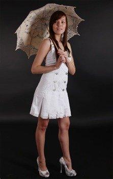 sukienka STRONG MINI BROKAT (A-5-07-040-01)