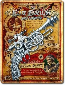 tablica z metalu ELITE DUELLIST