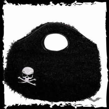torebka SMALL BLACK FUR TOTE BAG