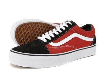 trampki VANS  - OLD SKOOL (SUEDE/CANVAS/BLACK/RED)