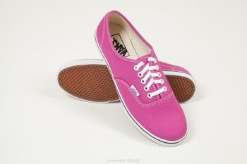 trampki damskie VANS - AUTHENTIC LO PRO FUCHSIA RED TRUE WHITE