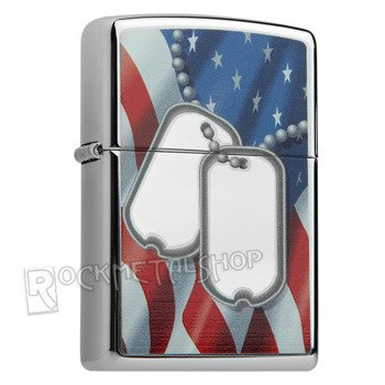 zapalniczka ZIPPO - FLAG AND DOG TAGS