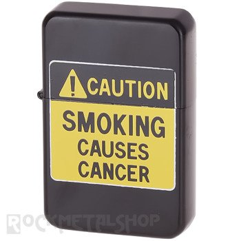 zapalniczka benzynowa CAUTION: SMOKING CAUSES CANCER