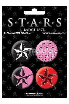 zestaw 4 przypinek STARS (BP80208)