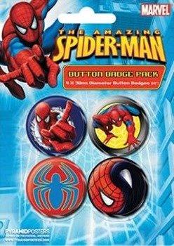 zestaw 4 szt. przypinek SPIDER-MAN