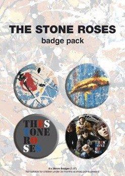 zestaw 4 szt. przypinek THE STONE ROSES