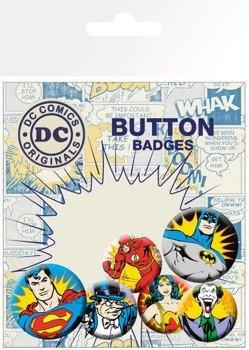 zestaw 6 szt. przypinek DC COMICS - HEROES AND VILLIANS