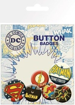 zestaw 6 szt. przypinek DC COMICS - RETRO
