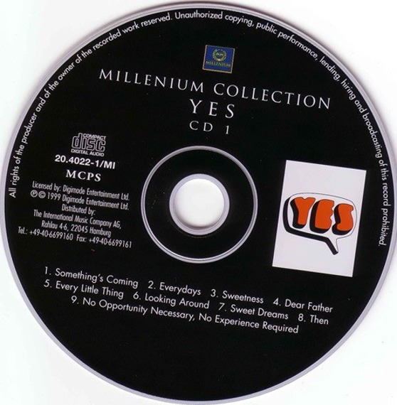 2 x płyta CD: YES - MILLENIUM COLLECTION