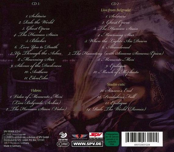 KAMELOT: GHOST OPERA REPRISE (2CD)