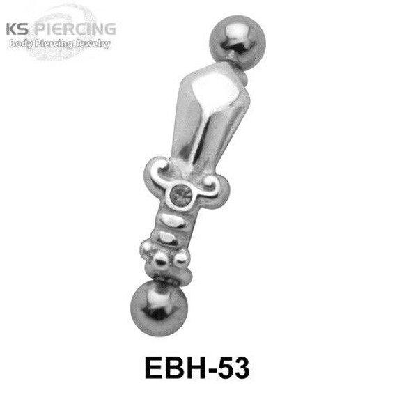 KOLCZYK PIERCING DO BRWI SWORD oczko crystal [EBH-53N]