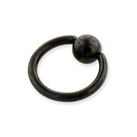KółKO ZAMYKANE KULKą CAPTIVE BEAD RING BLACK LINE grubość 1,6mm średnica kulki 5mm