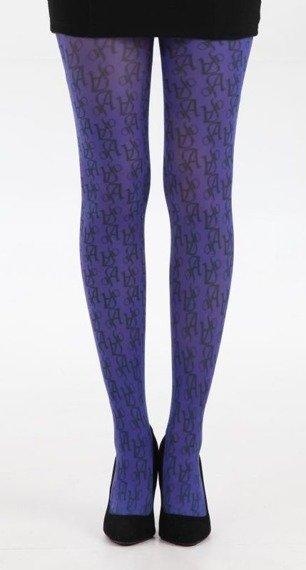 Rajstopy PRINTED AJs kolor purpurowy