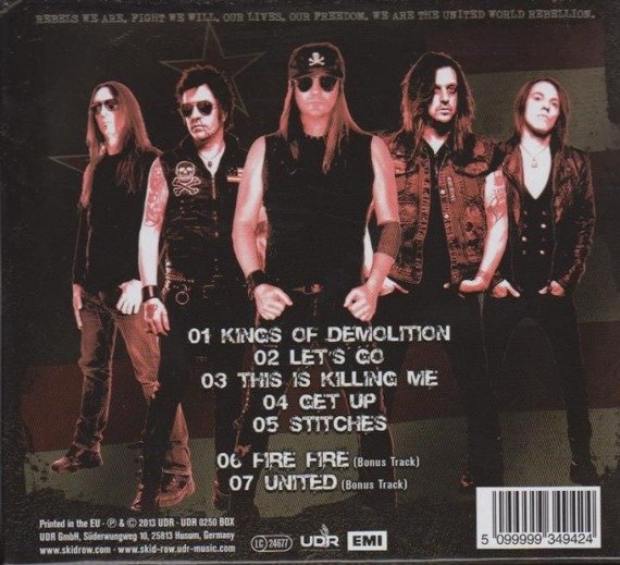 SKID ROW: UNITED WORLD REBELLION CHAPTER ONE (CD)