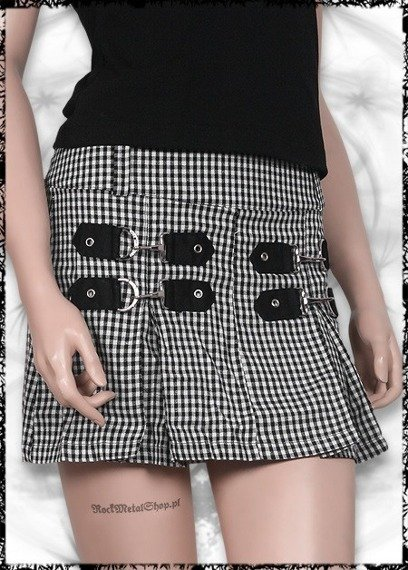 Spódniczka - CHEQUERED BLACK & WHITE