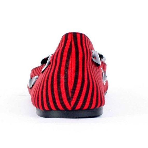 balerinki IRON FIST - BREAK IN FLAT (RED/BLACK)
