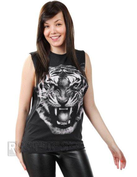 bezrękawnik damski TIGER BLACK