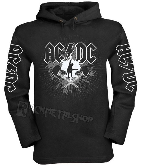 bluza AC/DC - HIGH VOLTAGE czarna, z kapturem
