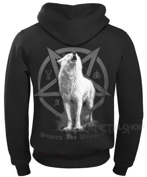 bluza AMENOMEN - WHITE WOLF rozpinana, z kapturem (OMEN048CR)