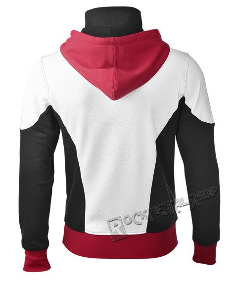 bluza BATMAN -  ARKHAM KNIGHT RED LOGO, rozpinana z kapturem