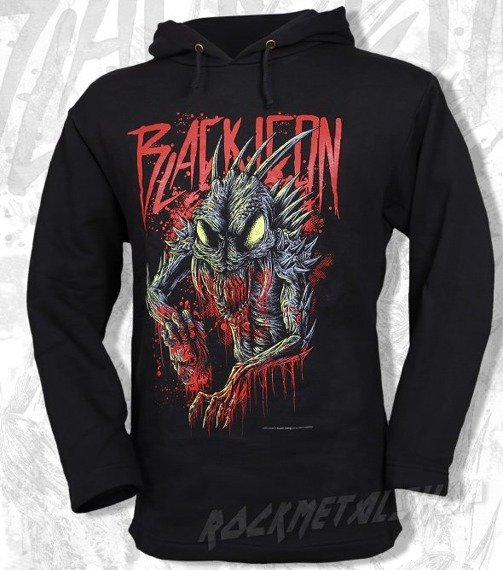 bluza BLACK ICON - BELZEBUB czarna z kapturem (BICON005)