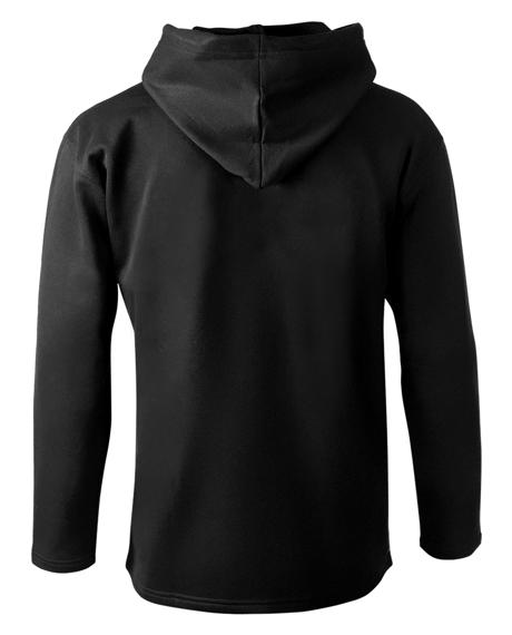 bluza BLACK ICON - CROSS FIRE czarna z kapturem