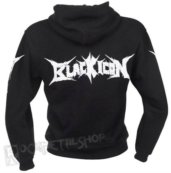 bluza BLACK ICON - TOM AND JERRY czarna, rozpinana z kapturem (HZICON036BLK)