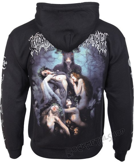 bluza CRADLE OF FILTH - HAMMER OF THE WITCHES, rozpinana z kapturem