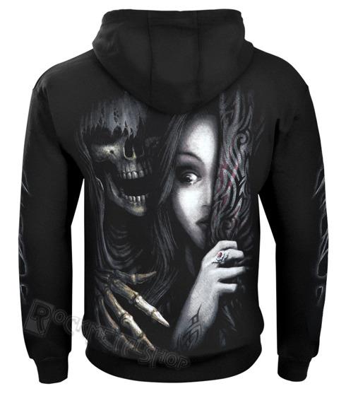 bluza DEAD SCARED czarna, z kapturem